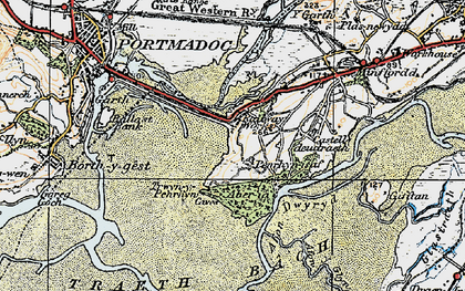 Old map of Portmeirion in 1922