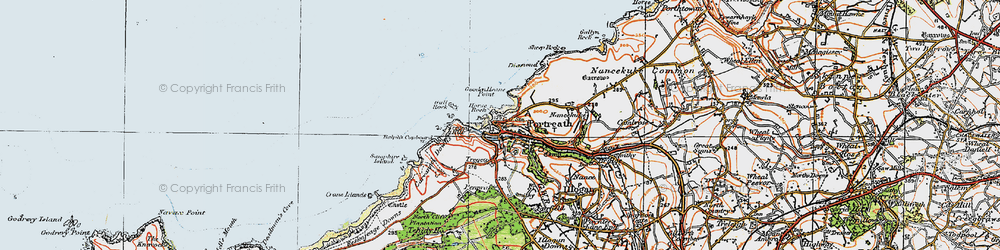 Old map of Portreath in 1919