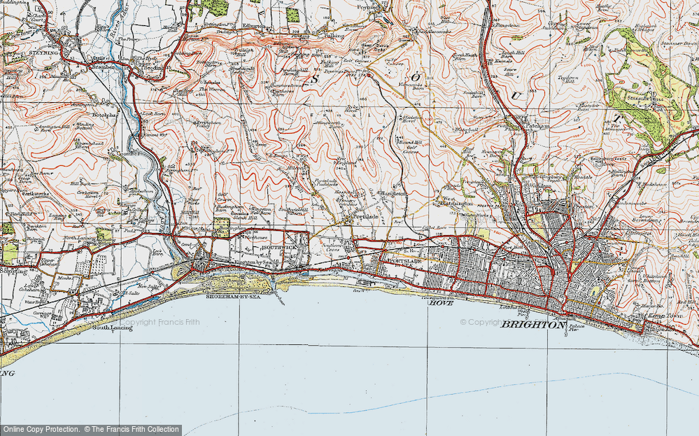 Old Map of Portslade, 1920 in 1920