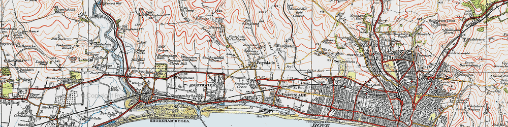 Old map of Portslade in 1920