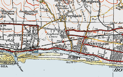 Old map of Portslade-By-Sea in 1920