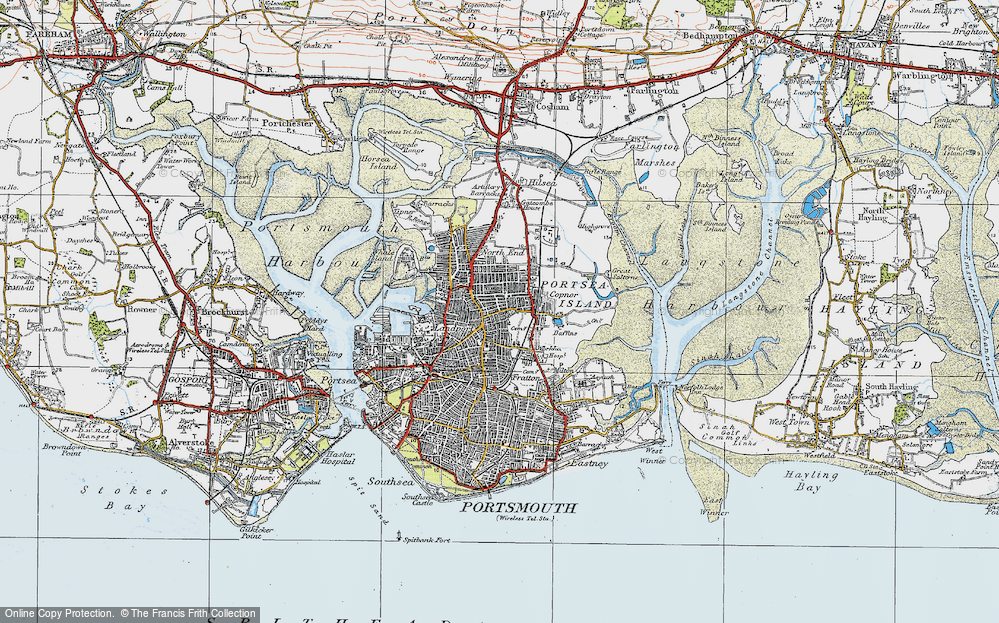 Map Of Portsmouth Map of Portsmouth, 1919   Francis Frith Map Of Portsmouth