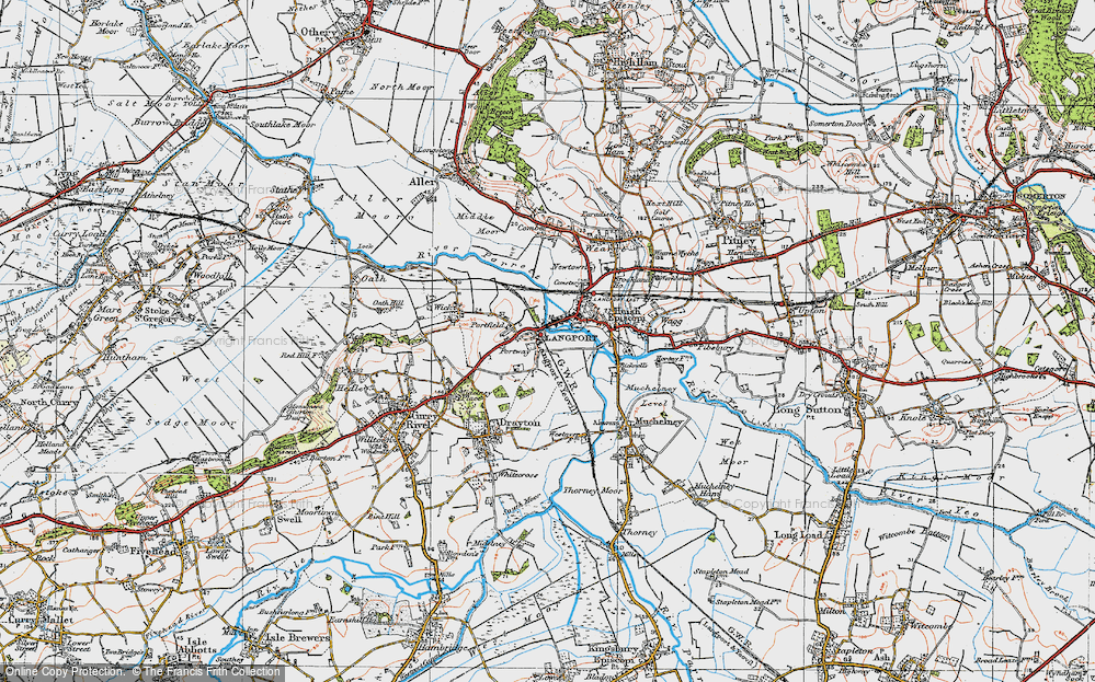 Old Map of Portway, 1919 in 1919