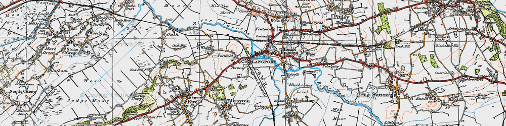Old map of Portway in 1919