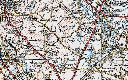Old map of Portway in 1921