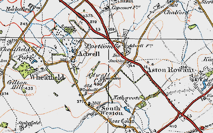 Old map of Adwell Cop in 1919