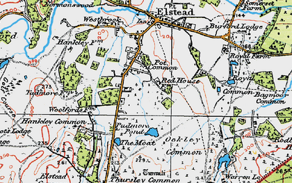 Old map of Bagmoor Common in 1919