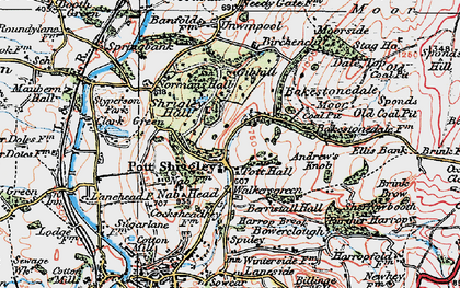 Old map of Bakestonedale Moor in 1923