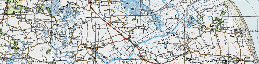 Old map of Potter Heigham in 1922