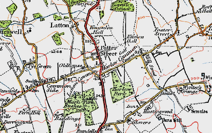 Old map of Latton Park in 1919