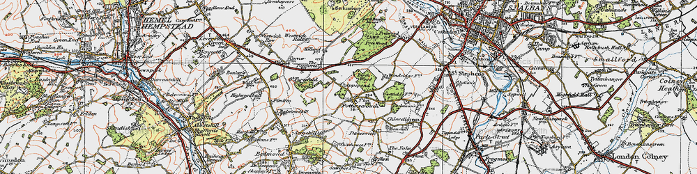 Old map of Appspond in 1920
