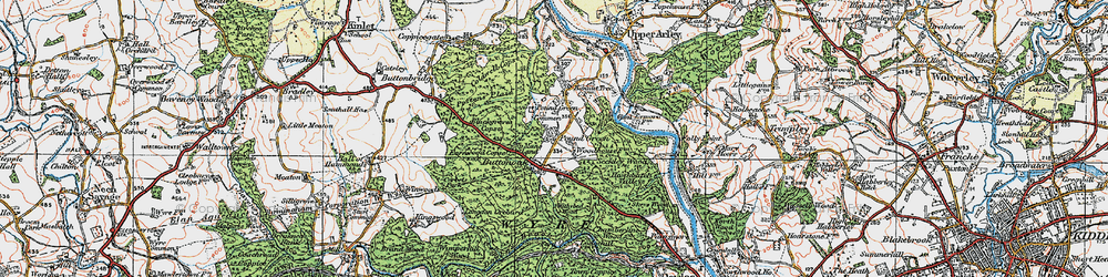 Old map of Withybed Wood in 1921