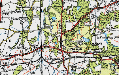 Old map of Pound Hill in 1920