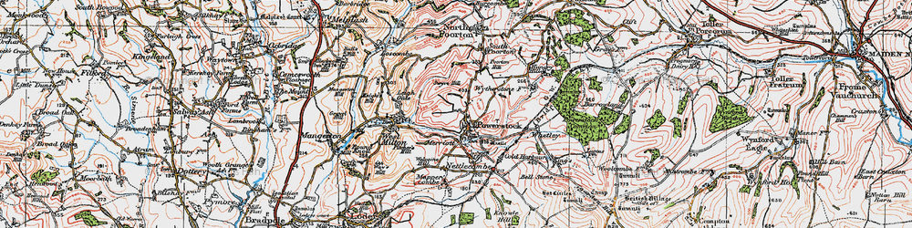 Old map of Whetley in 1919