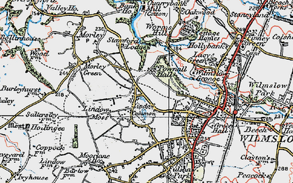 Old map of Lindow Common in 1923