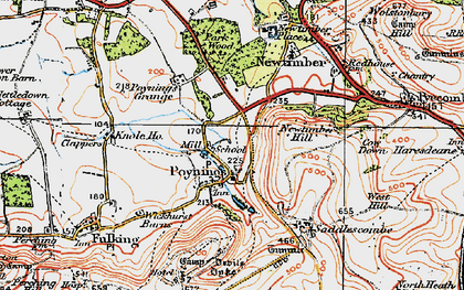 Old map of Poynings in 1920