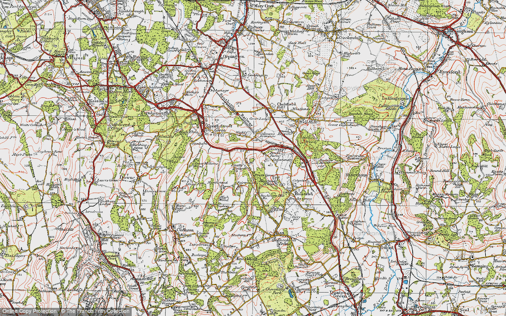 Old Map of Pratt's Bottom, 1920 in 1920