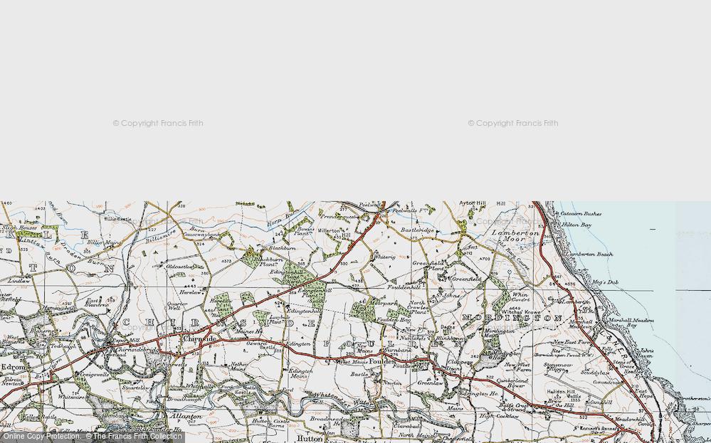 Old Map of Prenderguest, 1926 in 1926