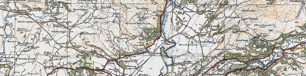 Old map of Prenteg in 1922