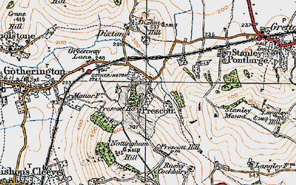 Old map of Winchcombe Way in 1919
