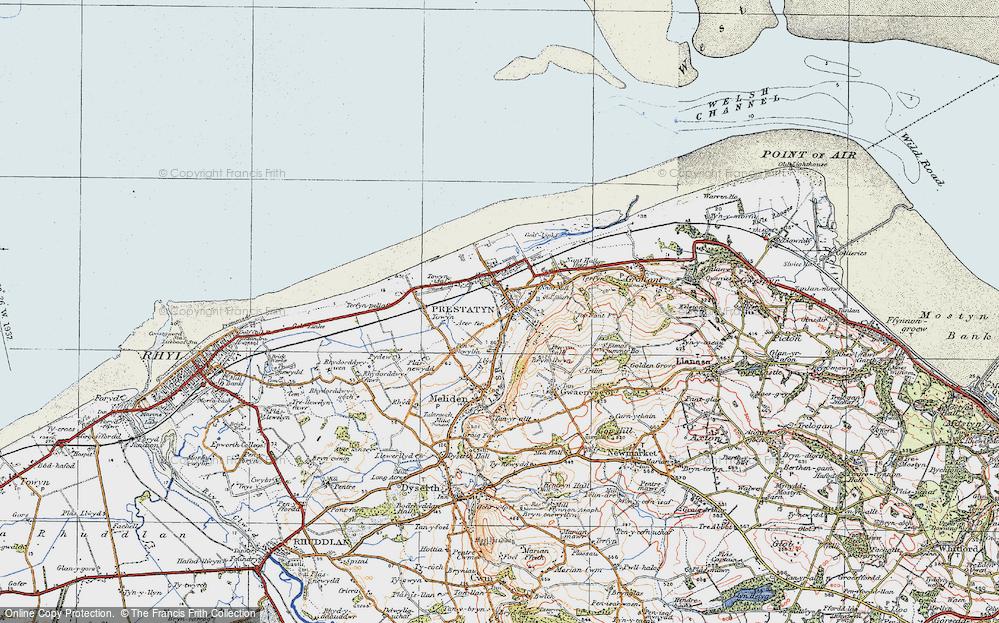 Old Map of Prestatyn, 1922 in 1922