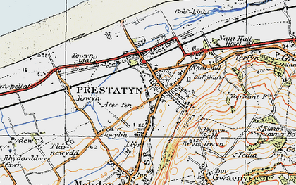 Old map of Prestatyn in 1922