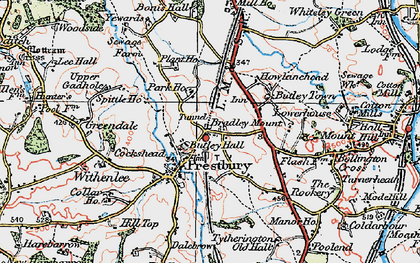 Old map of White Gables in 1923