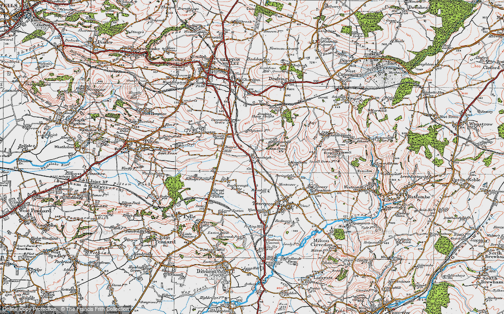 Old Map of Historic Map covering Agricultural Show Ground in 1919