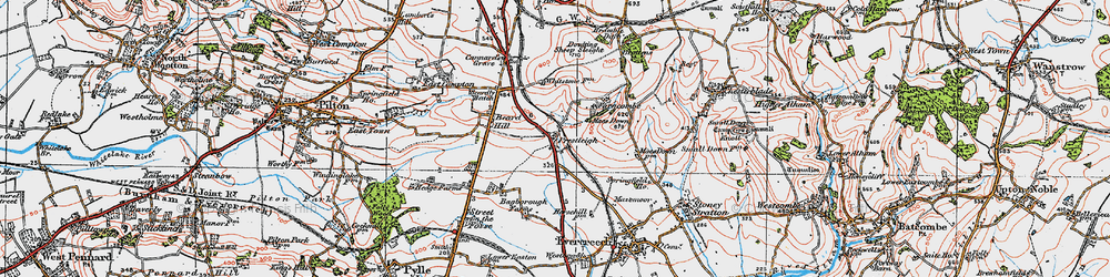 Old map of Agricultural Show Ground in 1919
