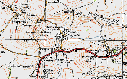 Old map of White Horse Hill in 1919