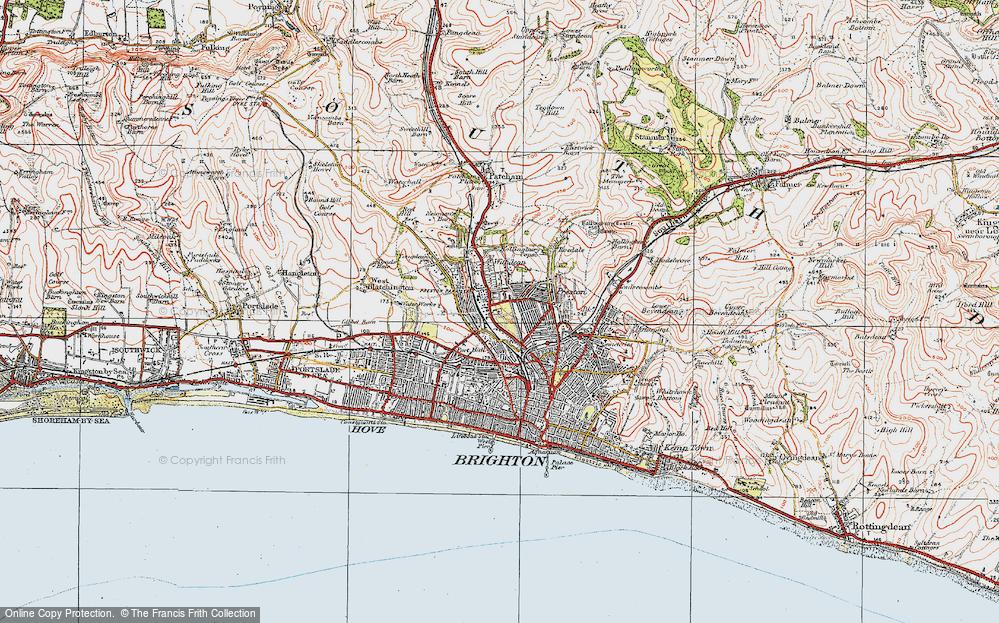 Old Map of Preston, 1920 in 1920