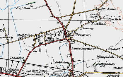 Old map of Preston in 1924