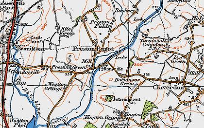 Old map of Preston Bagot in 1919