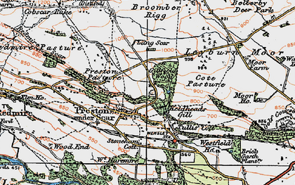 Old map of Preston-under-Scar in 1925