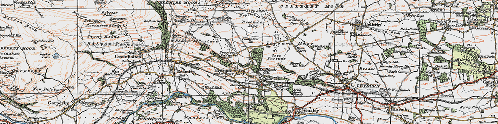 Old map of Lang Scar in 1925