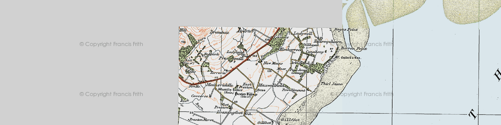 Old map of Airdrie in 1925