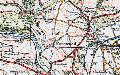 Old map of Wootton Lodge in 1921