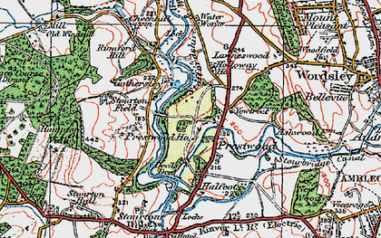 Old map of Lawns Wood in 1921