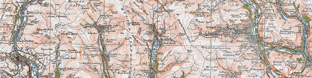 Old map of Price Town in 1922