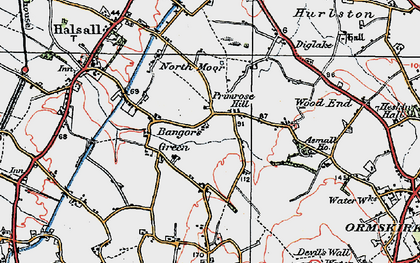 Old map of Bangor's Green in 1923
