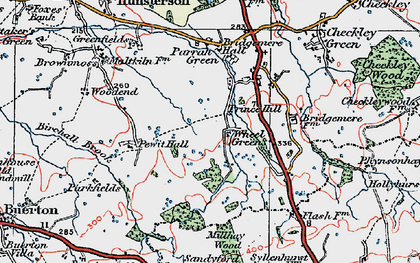 Old map of Admirals Gorse in 1921
