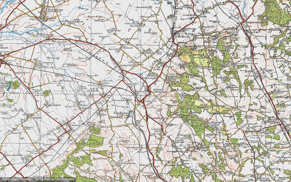 Old Map of Princes Risborough, 1919 in 1919