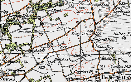 Old map of Whiteclose in 1925