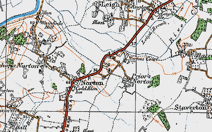 Old map of Leigh End in 1919