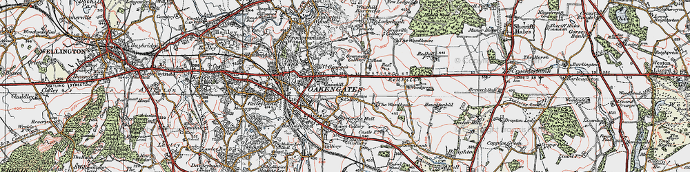 Old map of Priorslee in 1921