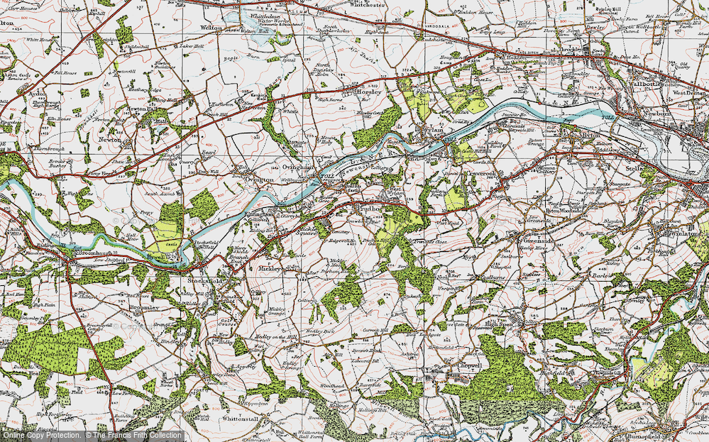 Old Map of Prudhoe, 1925 in 1925