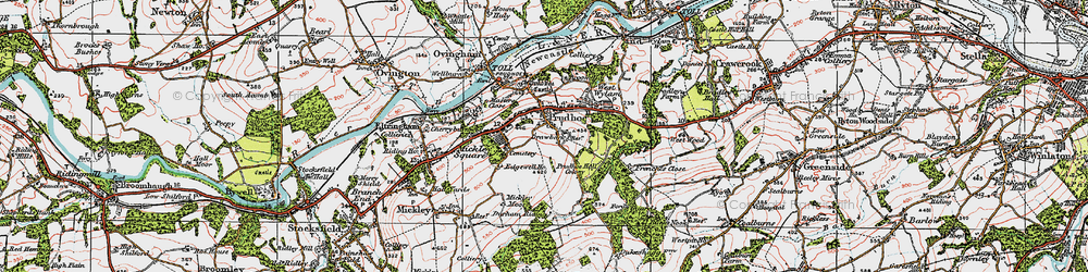 Old map of Prudhoe in 1925