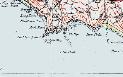 Old map of Prussia Cove in 1919