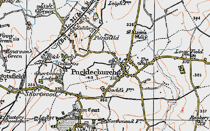 Old map of Pucklechurch in 1919