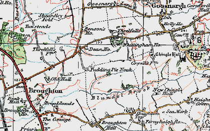 Old map of Whittingham Ho in 1924